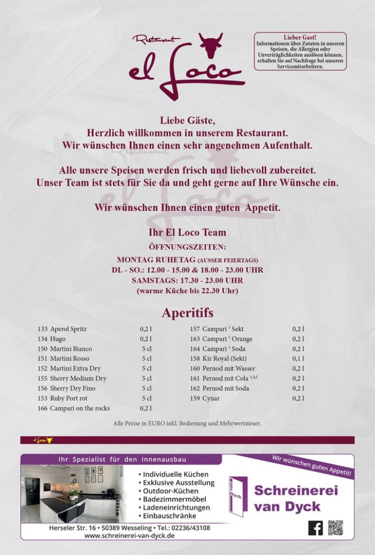 Restaurant Bornheim, el loco, steakhaus